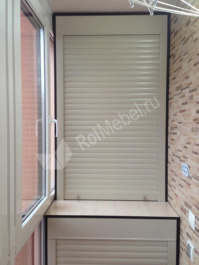 Шкафы на балкон с рольставнями