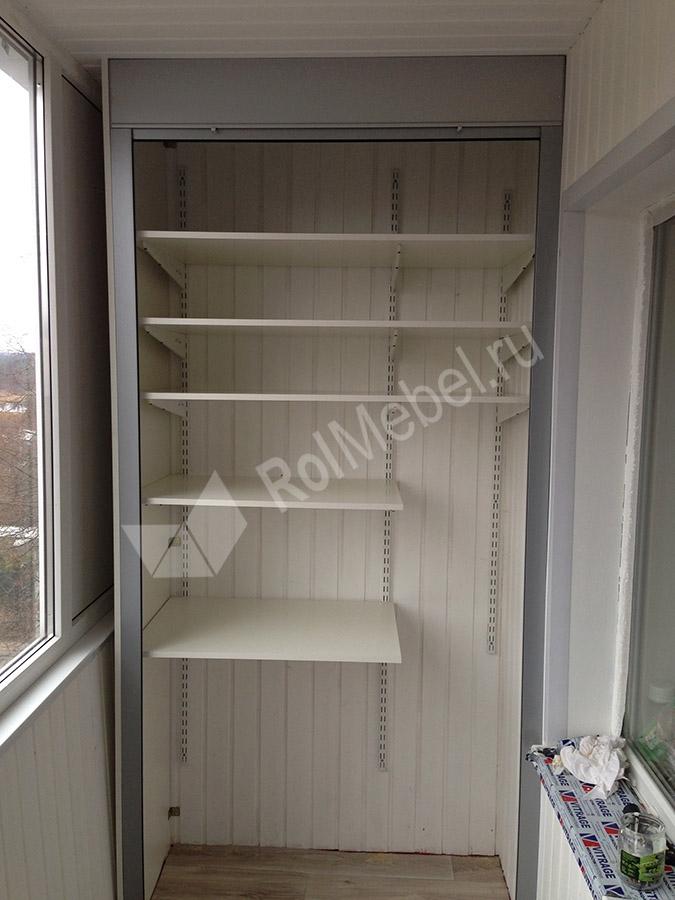 Шкаф на балкон с рольставнями на заказ.